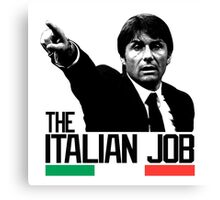 THE ITALIAN JOB ANTONIO CONTE EURO 2016 Canvas Print