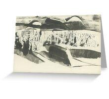 minimalism summer landscape (ink, paper, 2016) Greeting Card
