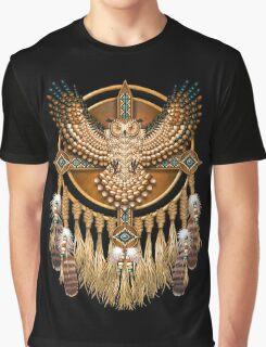 Native American Beadwork Owl Mandala Graphic T-Shirt