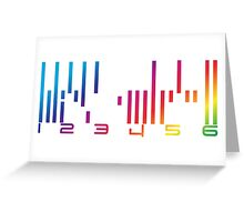 Dark Matter - The Android barcode Greeting Card