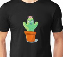 Cynical but Happy Cactus Guy Unisex T-Shirt