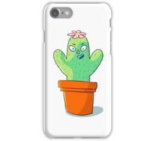Cynical but Happy Cactus Guy iPhone Case/Skin