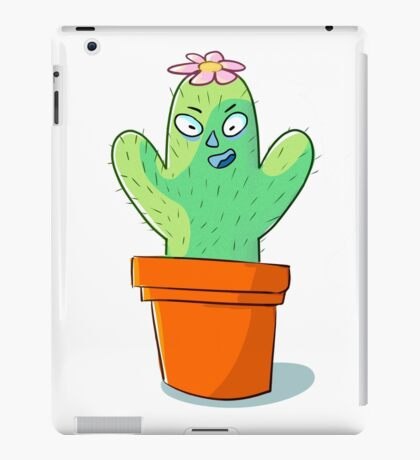 Cynical but Happy Cactus Guy iPad Case/Skin