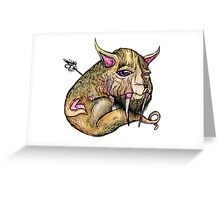 EVOLVE OF MEATBODY Greeting Card