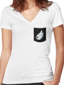 Pokemon Wind Type Pocket Women's Fitted V-Neck T-Shirt