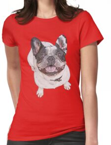 Pied French Bulldog Womens Fitted T-Shirt