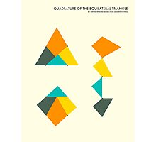 QUADRATURE OF THE TRIANGLE Photographic Print