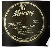 Georgia Gibbs Seven Lonley Days  78 label  Poster