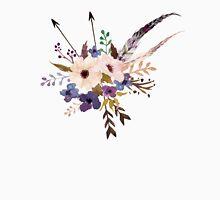 Purple White Watercolor Flower Bouquet Unisex T-Shirt