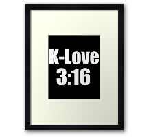 Kevin Love 3:16 Framed Print