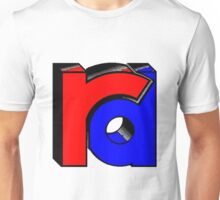 Three Dimensional in-twined lower case rd Unisex T-Shirt