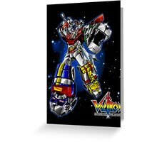 Voltron Greeting Card