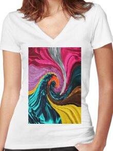 <<Yamborghini High>> Women's Fitted V-Neck T-Shirt