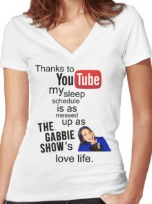 The Gabbie Show Original Quote Women's Fitted V-Neck T-Shirt