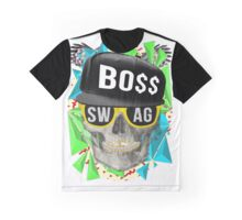 Triangle Swag Skull Graphic T-Shirt