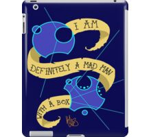 Mad Man With A Box Gallifreyan iPad Case/Skin