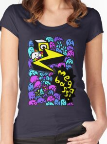 Megabass Ghost Party! Women's Fitted Scoop T-Shirt
