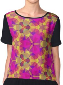 Pink and yellow geometric stainglass Chiffon Top