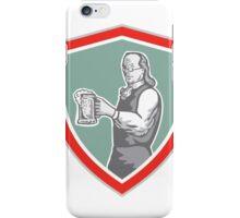 Benjamin Franklin Holding Beer Shield Retro iPhone Case/Skin