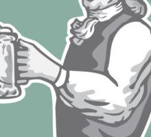 Benjamin Franklin Holding Beer Shield Retro Sticker