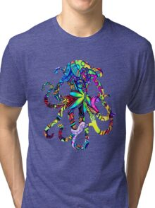 Octopus Psychedelic Tri-blend T-Shirt