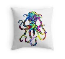Octopus Psychedelic Throw Pillow