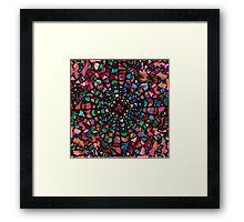 Pink Psychedelic Kaleidoscope Pattern   Framed Print