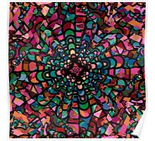 Pink Psychedelic Kaleidoscope Pattern   Poster