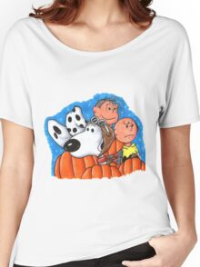 snoopy and charlie brown Women's Relaxed Fit T-Shirt