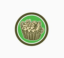 Crop Harvest Basket Circle Retro Unisex T-Shirt