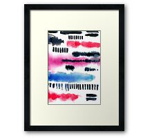 Abstract watercolor painting Framed Print