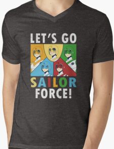 Let's Go Sailor Force Mens V-Neck T-Shirt