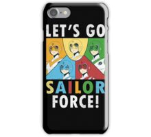Let's Go Sailor Force iPhone Case/Skin