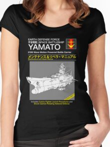 Battleship Yamoto Service and Repair Manual Women's Fitted Scoop T-Shirt