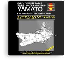 Battleship Yamoto Service and Repair Manual Metal Print
