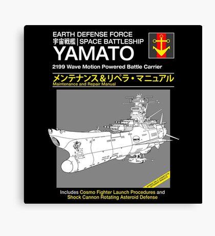 Battleship Yamoto Service and Repair Manual Canvas Print