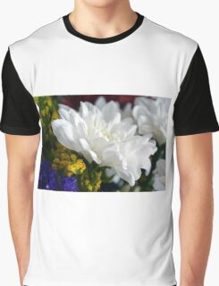 White flower macro, natural background. Graphic T-Shirt