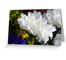 White flower macro, natural background. Greeting Card