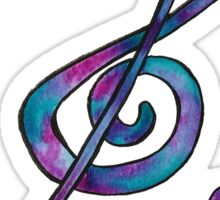 Music Treble clef Sticker