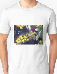 Natural background made in watercolor style with colorful flowers. Unisex T-Shirt