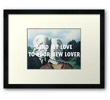 SEND MY LOVE - THE LOVERS Framed Print