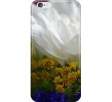 White flower macro, natural background. iPhone Case/Skin