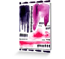 Abstract watercolor pattern Greeting Card