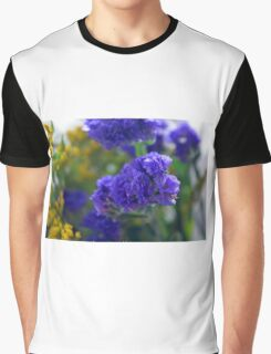 Purple flowers, nature background. Graphic T-Shirt