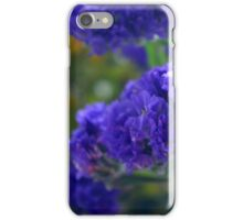 Purple flowers, nature background. iPhone Case/Skin