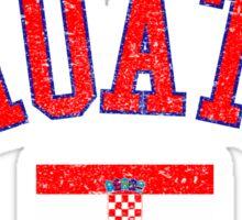 Croatia Flag Vintage Sticker