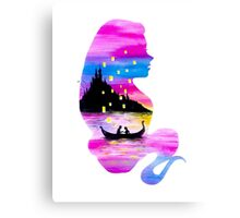Rapunzel Double Exposure Canvas Print