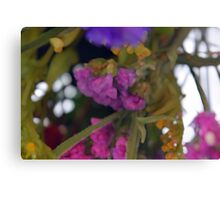 Natural background made in watercolor style with colorful flowers. Canvas Print