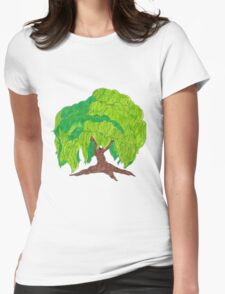 Weeping Willow Womens Fitted T-Shirt