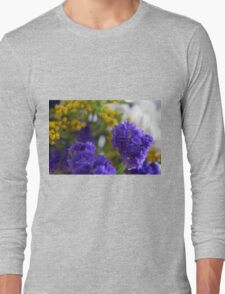 Purple flowers, nature background. Long Sleeve T-Shirt